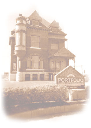 Portfolio Gallery & Education Center is located in an historic home behind Powell Symphony Hall